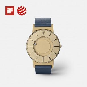 金表盘蓝色皮触觉腕表 | 大英博物馆永久收藏