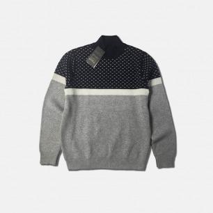男士羊毛提花波点毛衣 | 保暖又有型 休闲又舒适