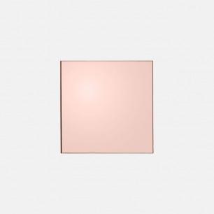 马卡龙色系方形化妆镜 | 边框几乎和镜子浑然一体