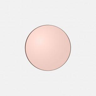 马卡龙色系圆形化妆镜 | 边框几乎和镜子浑然一体