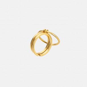 多圈金属戒指 质感金属系列 | 简约别致 2种戴法都好看