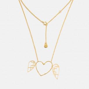 开心系列心形项链 | 灵动的像张开心的翅膀