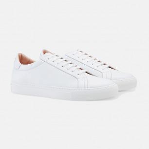 简约纯白低帮系带休闲鞋  | Gucci同款进口皮革 男女同款
