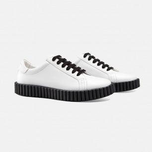 明星同款白色休闲运动鞋 | Gucci同款进口皮革 男女同款