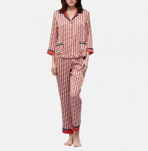 几何元素 真丝睡衣套装 | 莹润真丝面料 展示个性魅力