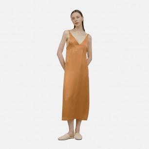 V领撞色吊带裙 睡裙 | 100%桑蚕丝 超舒适
