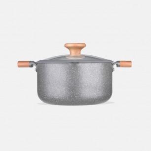 能煎炸炖煮的全能汤锅4.3L    简约轻巧导热快 安全不粘底