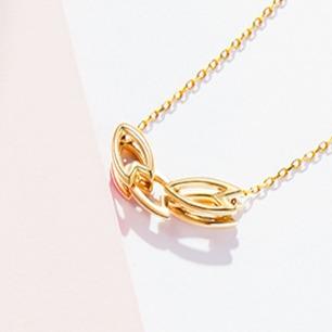 樱-多层花瓣项链 | 18k黄金勾勒的纤细樱花