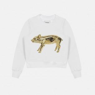 女士纯棉金猪刺绣卫衣 | 独立原创设计师品牌