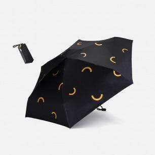 黑胶五折伞 小巧随身带 | 轻松收纳 晴雨相伴 4款图案