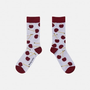 原创时尚中筒袜 可口殷桃   明星也爱穿的品牌 男女同款