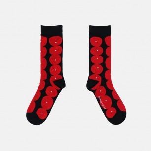 原创时尚中筒袜 奇异红果   明星也爱穿的品牌 男女同款