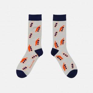 时尚中筒袜 清新豆荚粉   明星也爱穿的品牌 男女同款