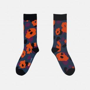 原创时尚中筒袜 迷彩幻红 | 明星也爱穿的品牌 男女同款