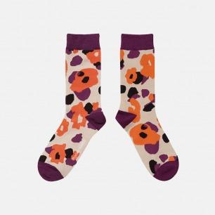 原创时尚中筒袜 迷彩红榴   明星也爱穿的品牌 男女同款