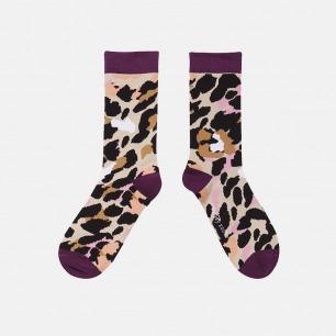 原创时尚中筒袜 迷踪豹纹   明星也爱穿的品牌 男女同款