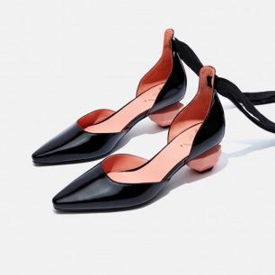 复古小方头绑带玛丽珍鞋   独立原创设计师品牌