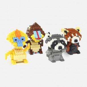 小熊猫小猴子积木拼装玩具 | 大孩子也爱玩的动物模型