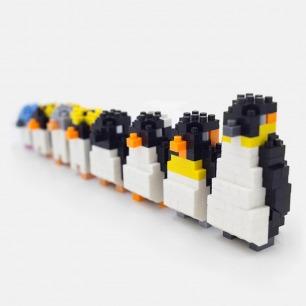 企鹅冰团 积木拼装玩具 | 大孩子也爱玩的企鹅模型