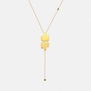 爱照镜子的仙人掌长项链 | 原创独立首饰设计师品牌