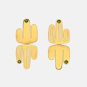 爱照镜子的仙人掌耳钉 | 原创独立首饰设计师品牌