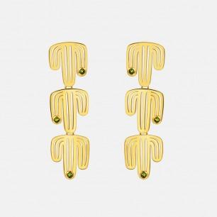 倒立的仙人掌耳钉mini款 | 原创独立首饰设计师品牌
