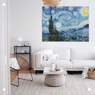 创意拼贴装饰画-星空梵高   荷兰超火的趣味艺术画