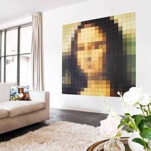 蒙娜丽莎的微笑-像素画   荷兰超火的趣味艺术画