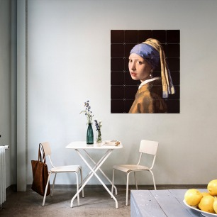 戴珍珠耳环的少女-装饰画   荷兰超火的趣味艺术画