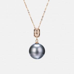 大溪地黑珍珠项链-财源滚滚 | 珍贵黑蝶贝孕育而成