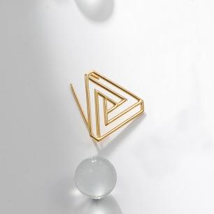 彭罗斯三角18k金胸针 | 高级感的原创设计