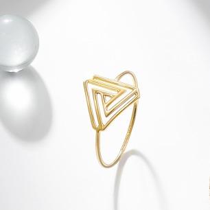 彭罗斯三角戒指 | 18k金 高级感的原创设计