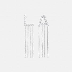 铂金L.A字母流苏耳环 | 超多明星同款复古摩登首饰