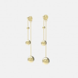 18K金月体耳环 | 超多明星同款复古摩登首饰
