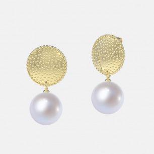 18K金满月珍珠耳环 | 超多明星同款复古摩登首饰