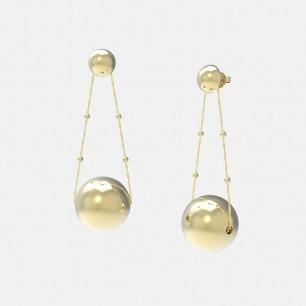 18K金满月球体耳环 | 超多明星同款复古摩登首饰