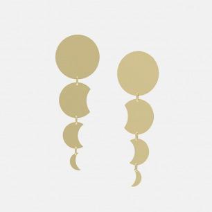 18K金镜面月食耳环 | 超多明星同款复古摩登首饰