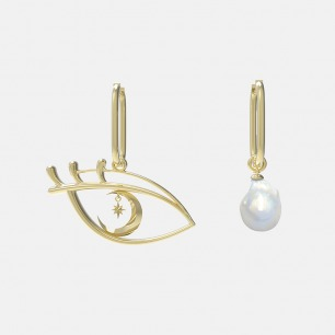 星月眼巴洛克珍珠耳环 | 超多明星同款复古摩登首饰