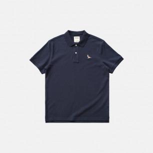 刺绣麻雀 重磅POLO衫 | 原创设计,蓝标有机棉
