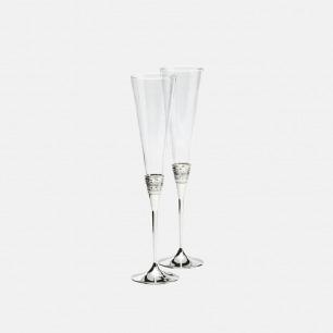 真爱相随银色香槟杯高脚杯   气质典雅简约