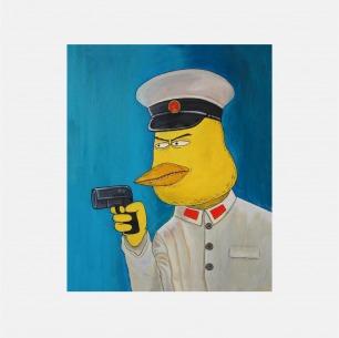 五四手枪 | 彭磊签名版画
