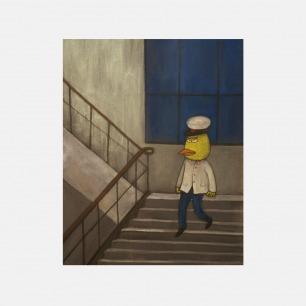 下楼 | 彭磊签名版画
