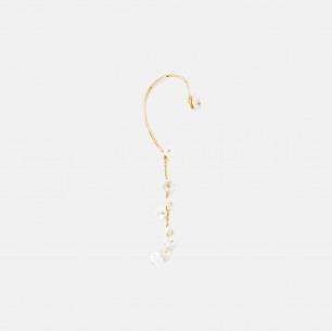 天然淡水花瓣珍珠耳挂 | 个性优雅,手工制作