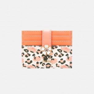 豹纹花系列卡包 | 花朵暗扣,烫金工艺