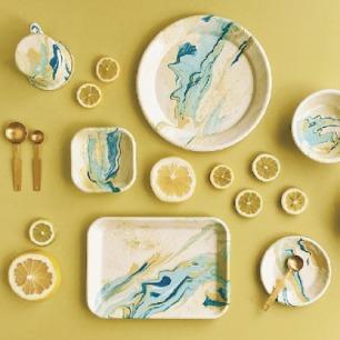 柠檬黄大理石系列手工制品 | 来自土耳其的工艺