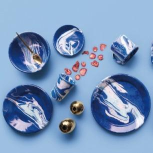 蓝色大理石系列手工制品 | 来自土耳其的工艺