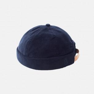 可调节灯芯绒水手帽 | 复古风格,优质全棉灯芯绒