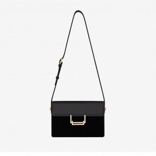 Saint Laurent Classic Medium Lulu Bag Nera In Pelle e Scamosciato