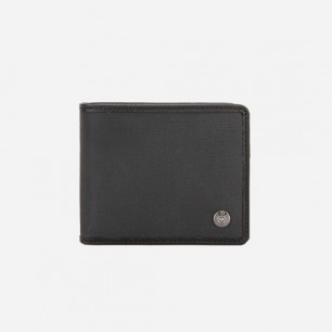 HUGO BOSS黑色帆布涂层材质纯色男士钱夹休闲钱包专柜正品钱包