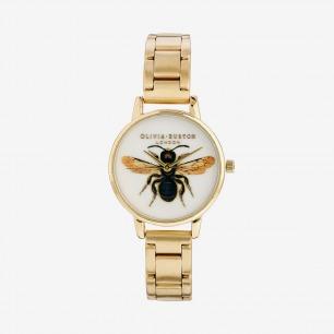 Olivia Burton AW13复古vintage蜜蜂金属表带女士手表